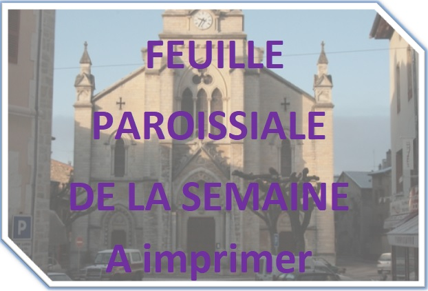Feuille paroissiale du 14 avril